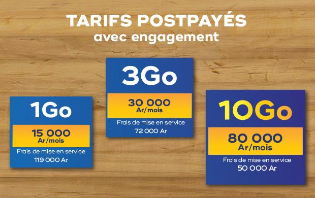 tarif postpayé